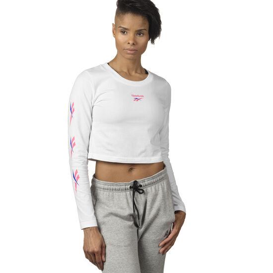 Reebok - Cropped Long Sleeve T-Shirt White DP0198