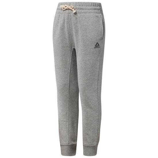 Reebok - Girl's French Terry Sweatpants Medium Grey Heather CF4295