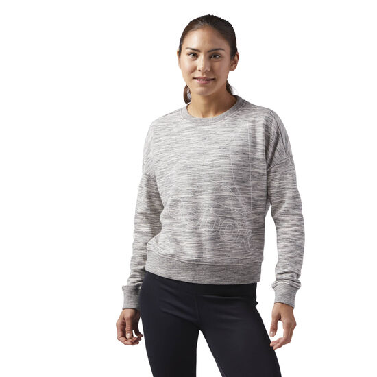Reebok - Reebok Training Essentials Logo Crew Neck Medium Grey Heather CF8648