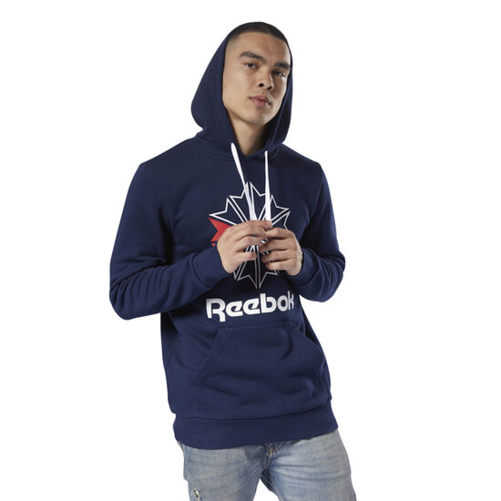Reebok - Reebok Classics Big Logo Hoodie Collegiate Navy / White DH2107