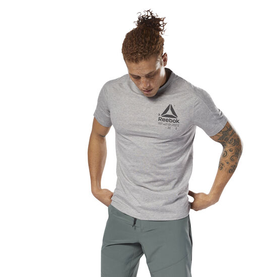 Reebok - Speedwick Graphic Tee Medium Grey Heather D93764