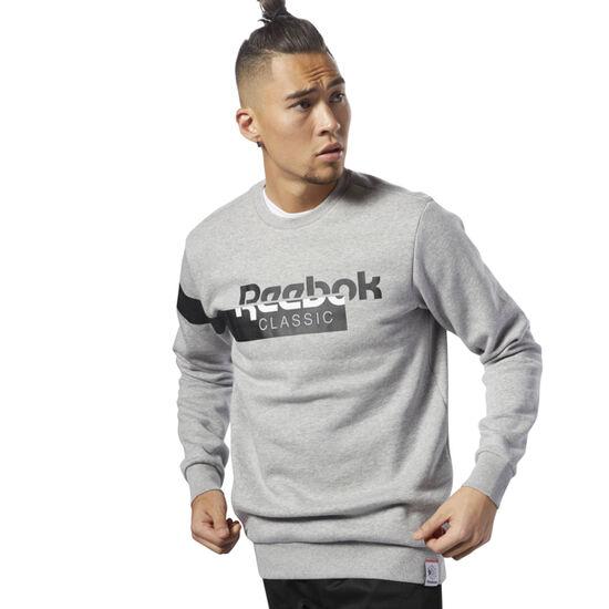 Reebok - Classics Disruptive Fleece Crewneck Medium Grey Heather DH2064