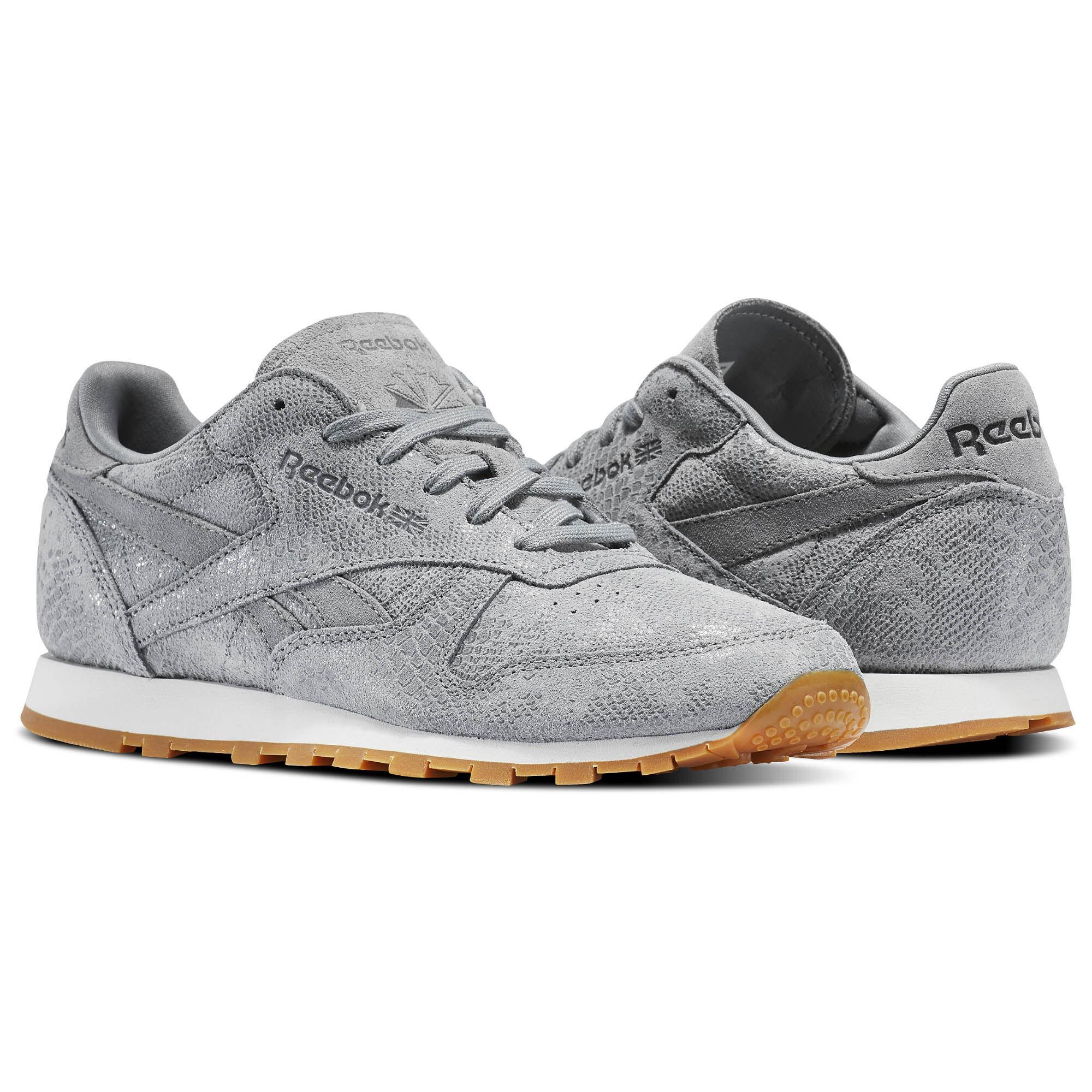 Reebok - Classic Leather Clean Exotics Flint Grey/Chalk/Gum BS8228