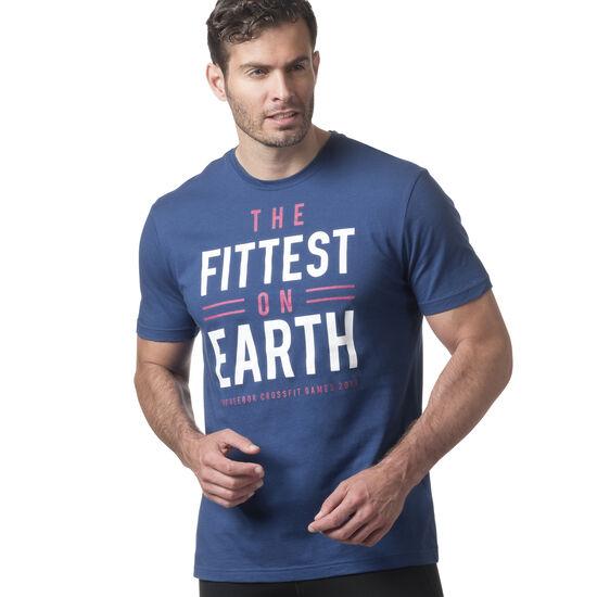 Reebok - Reebok CrossFit 'Fittest on Earth' Tee Bunker Blue DN2391