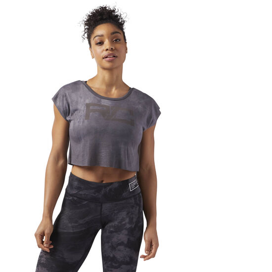 Reebok - Combat SPRAYDYE CROP TEE Powder Grey CE2576