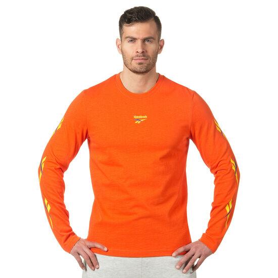 Reebok - LF Long Sleeve Print T-Shirt Bright Lava DN9807