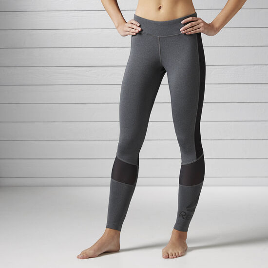 Reebok - Workout Ready Graphic Legging Dark Grey Heather/Black BK5081