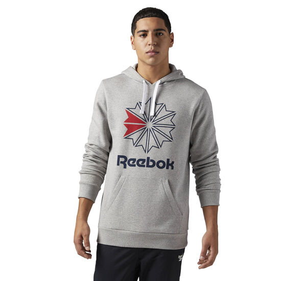 Reebok - Reebok Classics Big Logo Hoodie Medium Grey Heather BR0568