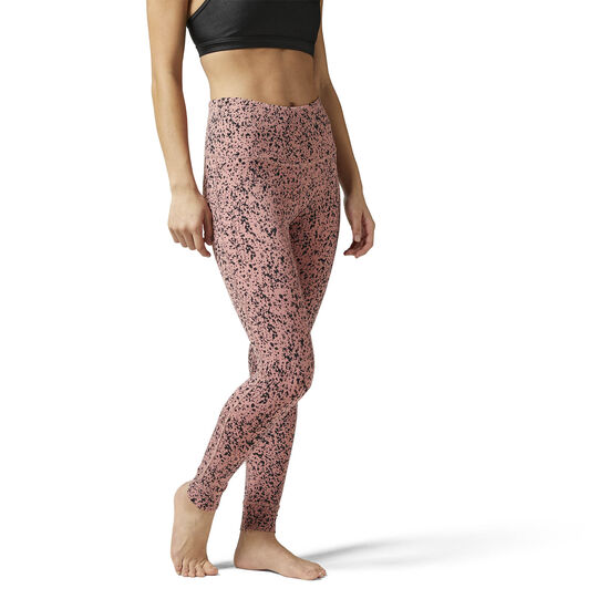Reebok - High Rise Lux Bold Legging - Speckle Print Sandy Rose BR8984