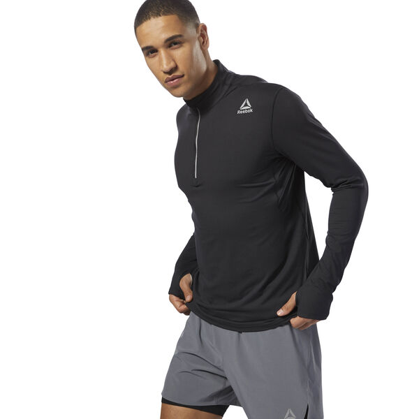 Running Thermowarm Touch Quarter Zip Black D92321