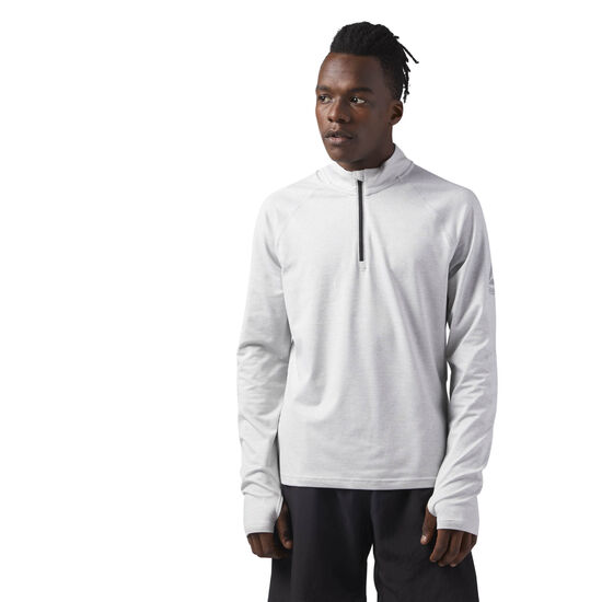 Reebok - Reflective Speedwick Quarter Zip Skull Grey CF8776