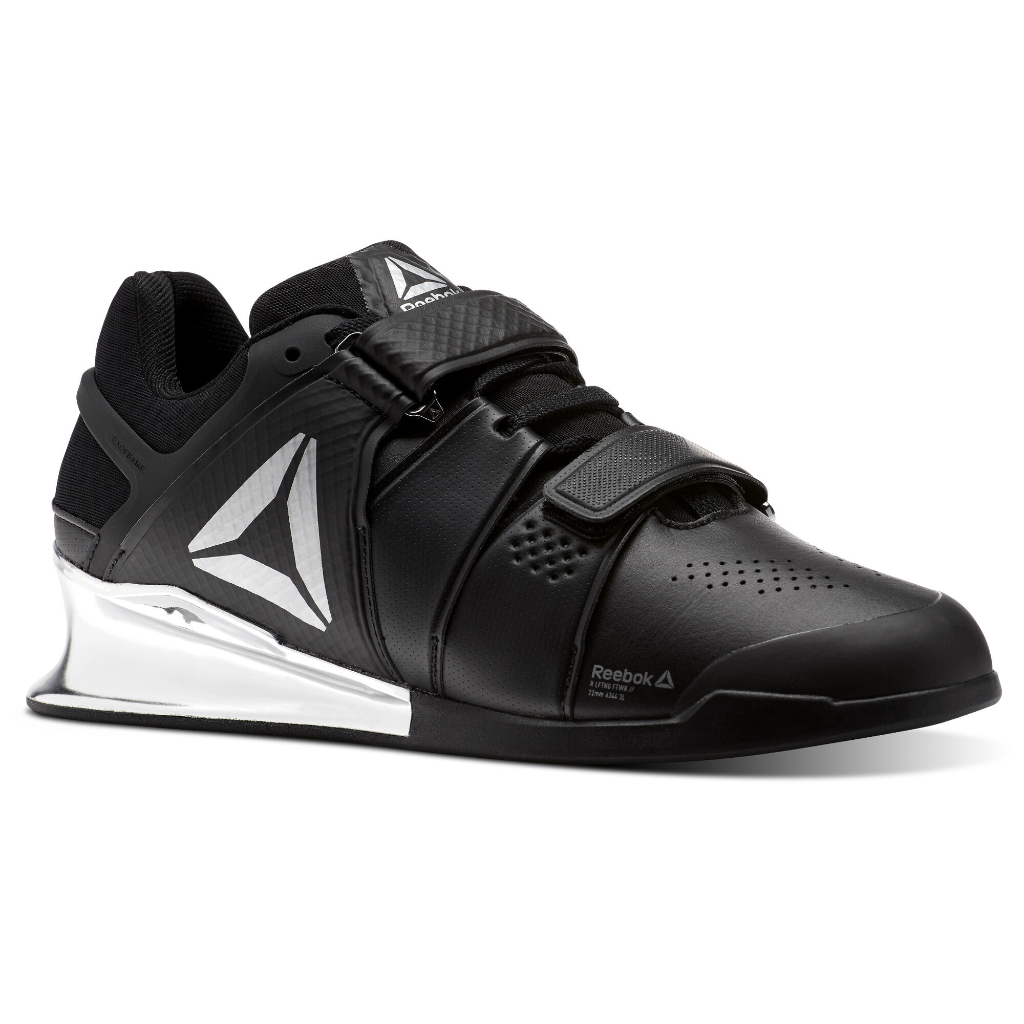 Reebok LEGACY LIFTER - Sports shoes - black/white/silver 6sZAx
