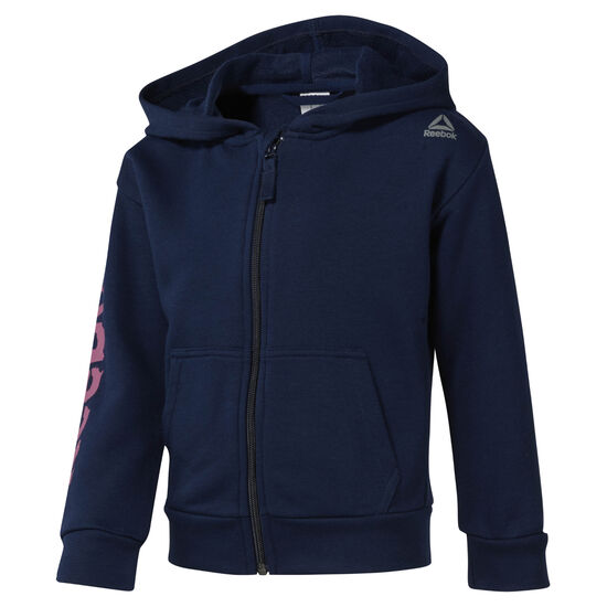 Reebok - Girls Training Essentials Fullzip Hoody Collegiate Navy DM5554