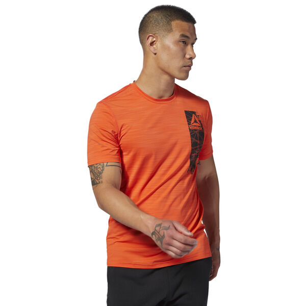 Workout Ready ACTIVCHILL Graphic Top Orange D94236