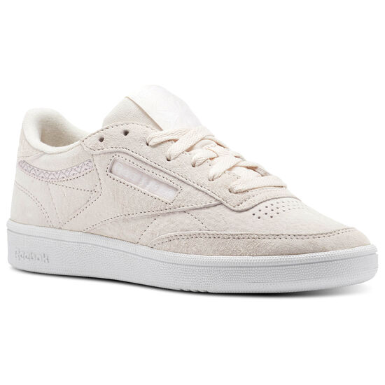 Reebok - Reebok Club C 85 Trim Nubuck Pale Pink/White/Powder Grey BS9609