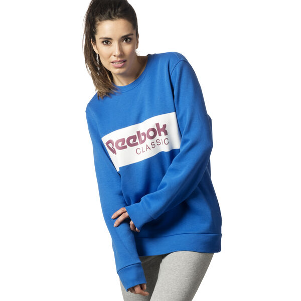 Classic Crew Neck Sweatshirt Blue DX2345