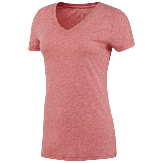 Reebok - Reebok V-Neck T-Shirt Excellent Red AJ8014