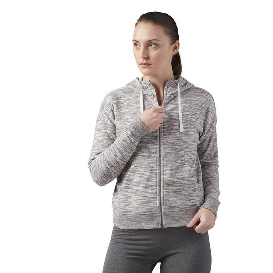 Reebok - Reebok Training Essentials Full Zip Hoodie Medium Grey Heather CF8618