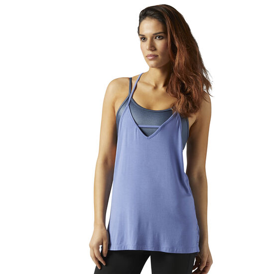 Reebok - LES MILLS Strappy Tank Lilac Shadow CE6688