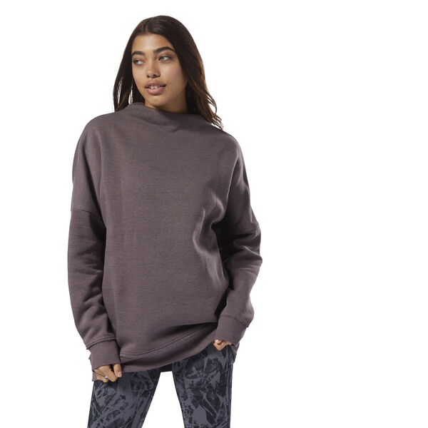 Training Essentials Marble Oversized Crew Grey D95542