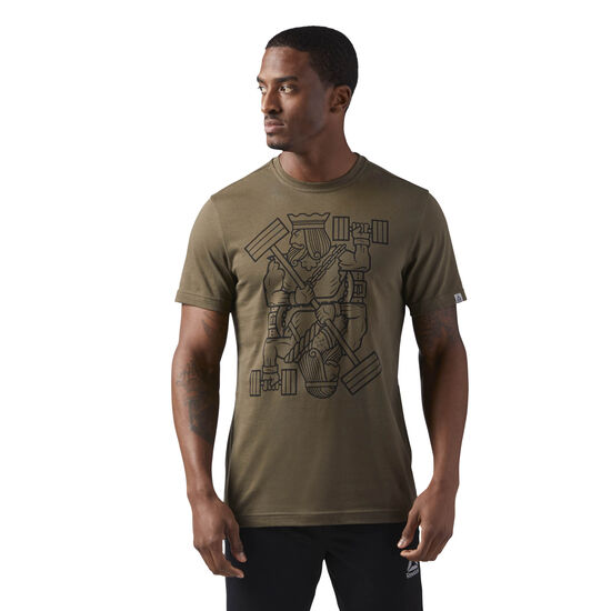 Reebok - King of Training Graphic T-Shirt Army Green CF3844