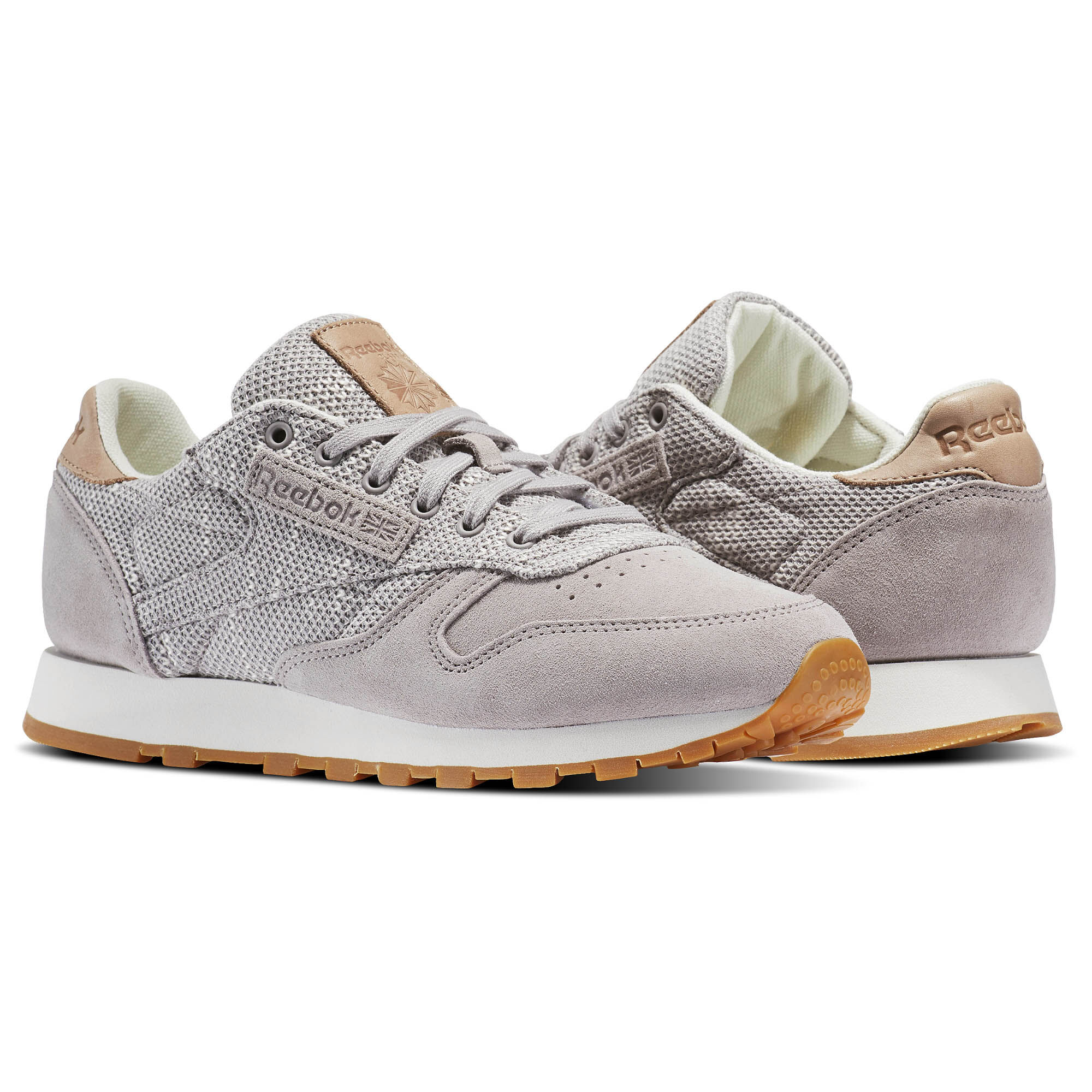 Reebok - Classic Leather Elevated Basics Whisper Grey/Chalk/Lilac  Ash/Vegtan-