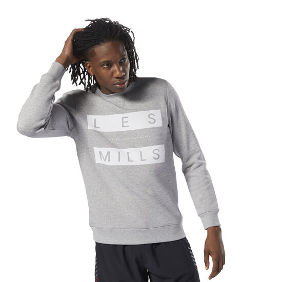 Reebok - LES MILLS™ Fleece Crew Medium Grey Heather DN5898