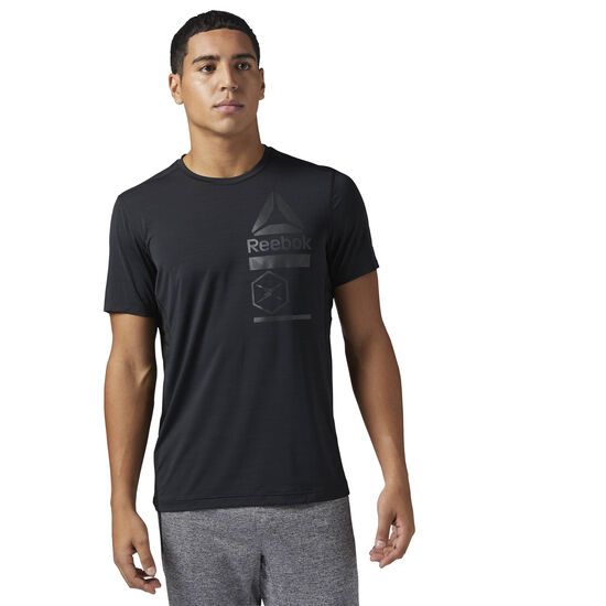 Reebok - ACTIVCHILL Zoned Graphic T-Shirt Black CE6488