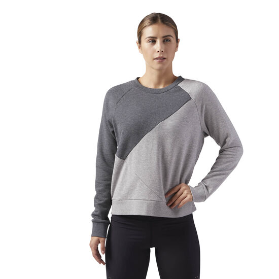 Reebok - Reebok Crew Neck Sweatshirt Medium Grey Heather CD5973