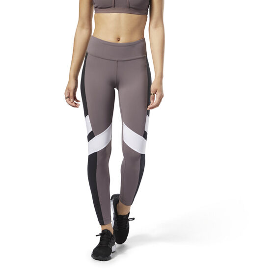 Reebok - Reebok Lux Leggings - Colour Block Almost Grey / Black D94128