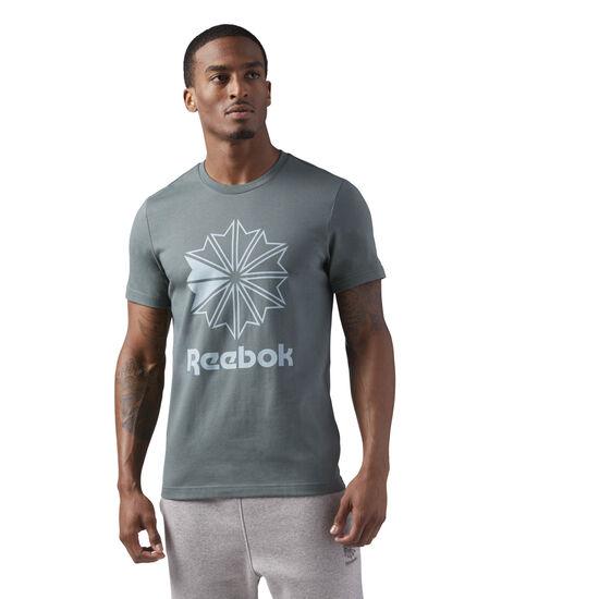 Reebok - Reebok Classics Big Logo Tee Grey/Chalk Green CD8392