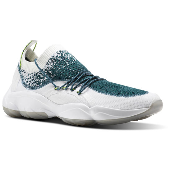 Reebok - DMX Fusion White/Rapid Teal/Solar Yellow/Skull Grey-Ice CM9623