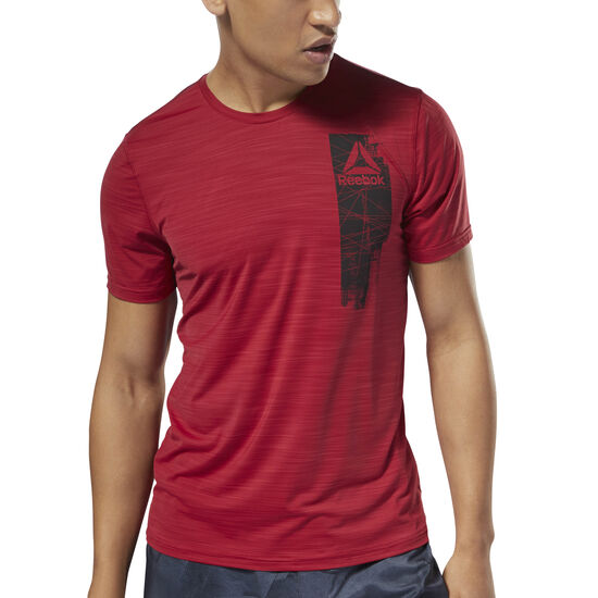 Reebok - Workout Ready ACTIVCHILL Graphic Top Cranberry Red D94234