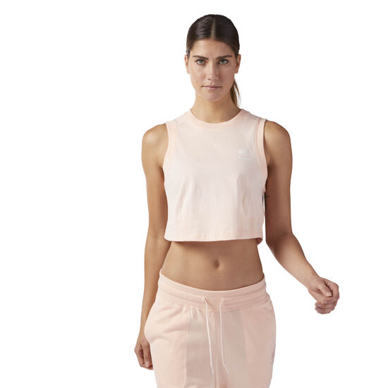 Reebok - Cropped Tank Top Desert Dust CF9516