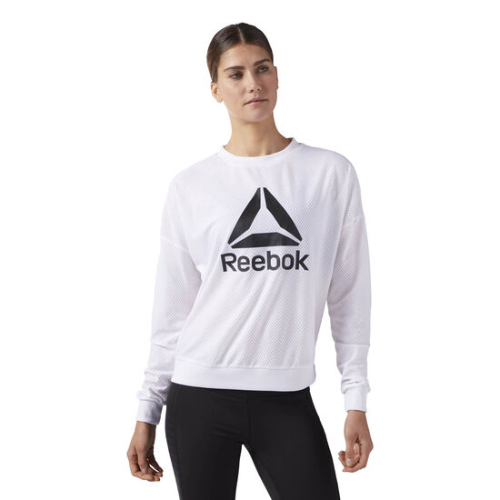 Reebok - Workout Ready ACTIVChill Crew Neck Sweatshirt White CE1181