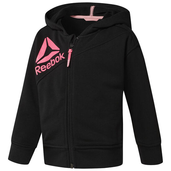 Reebok - Girl's Full Zip Hoodie Black CF4242