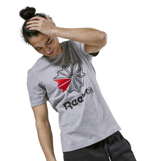 Reebok - Reebok Classics Big Logo Tee Medium Grey Heather / Black DH2073