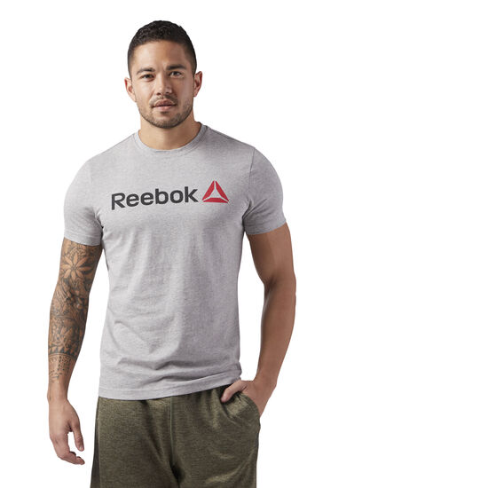 Reebok - Reebok Linear Read Tee Medium Grey Heather CW5375