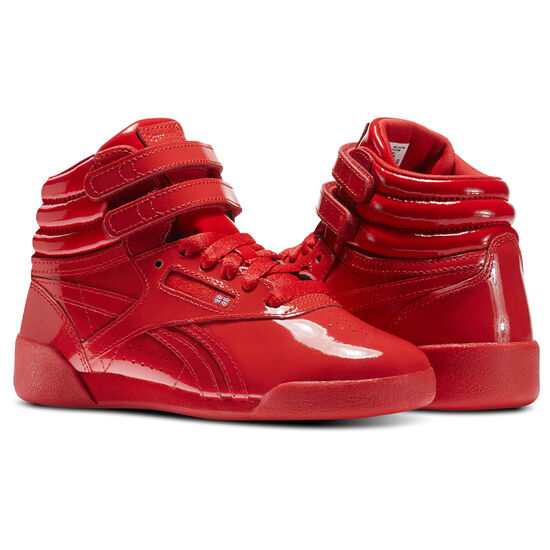 Reebok - Kid's Freestyle Hi Patent Leather Red CN2080