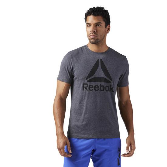 Reebok - Stacked Logo Tee Dark Grey Heather CF3905