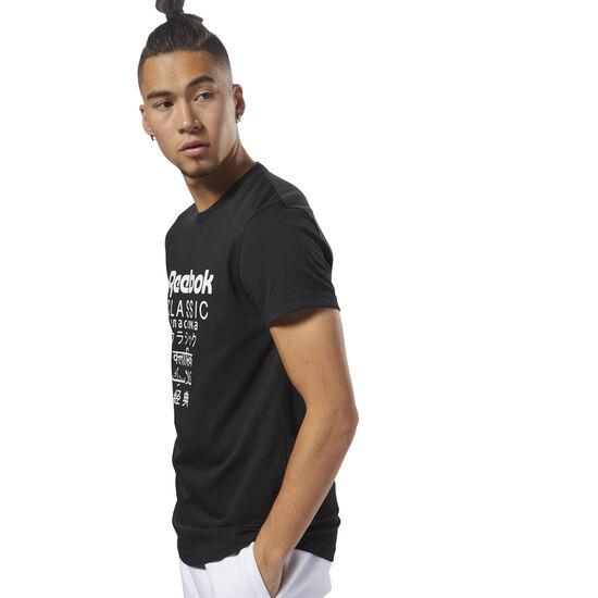 Reebok - Classics Unisex Short Sleeve Extended Tee Black DJ1890