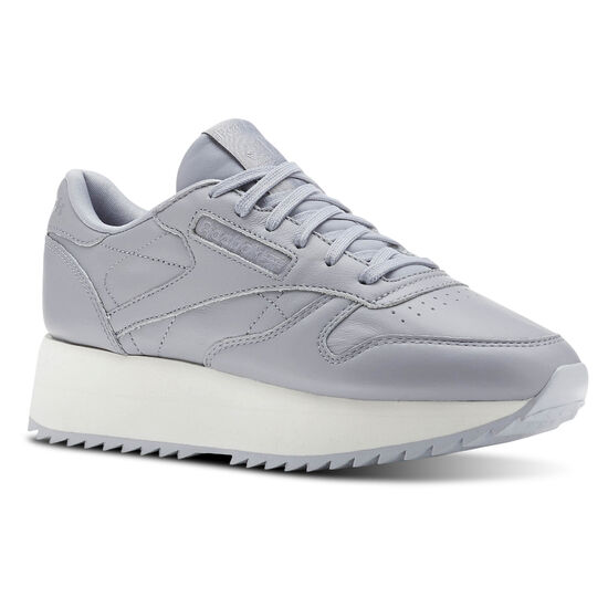 Reebok - Classic Leather Double Double  Cool Shadow/Chalk/Cloud Grey CN5490