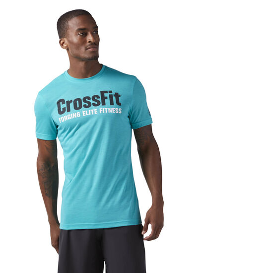 Reebok - Reebok CrossFit Speedwick F.E.F. Graphic Tee Turquoise/Solid Teal CF4548