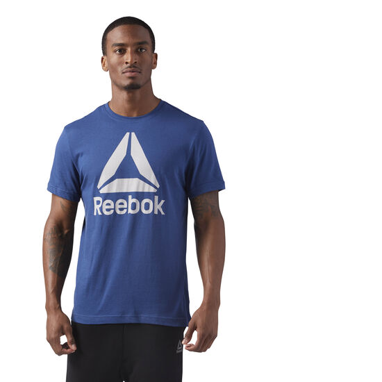 Reebok - Stacked Logo Tee Washed Blue CF3907