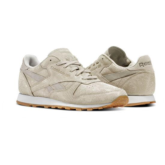 Reebok - Classic Leather Clean Exotics Stucco/Chalk/Sand Stone/Gum BS8227
