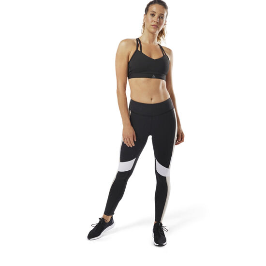 Reebok - Reebok Lux Leggings - Colour Block Black / Parchment D94131