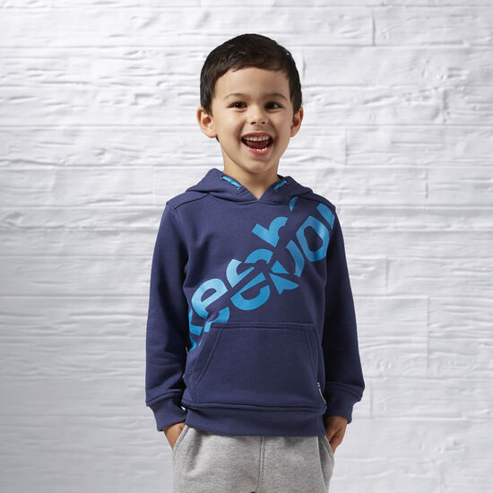 Reebok - Boys Essentials Pullover Hoodie Blue Ink AY0772