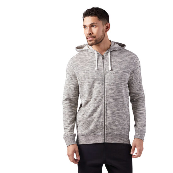 Reebok - Marble Melange Full-Zip Hoodie Medium Grey Heather CE3916