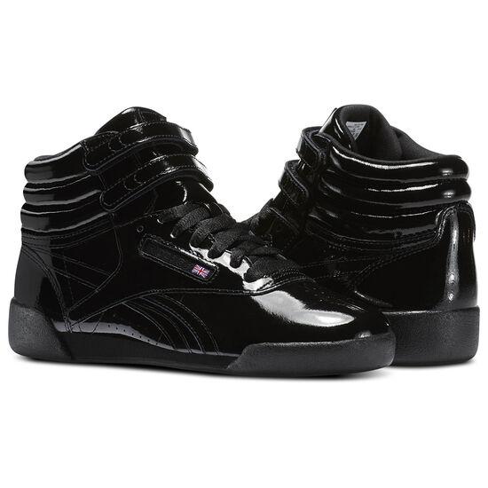 Reebok - Kid's Freestyle Hi Patent Leather Black CN2077