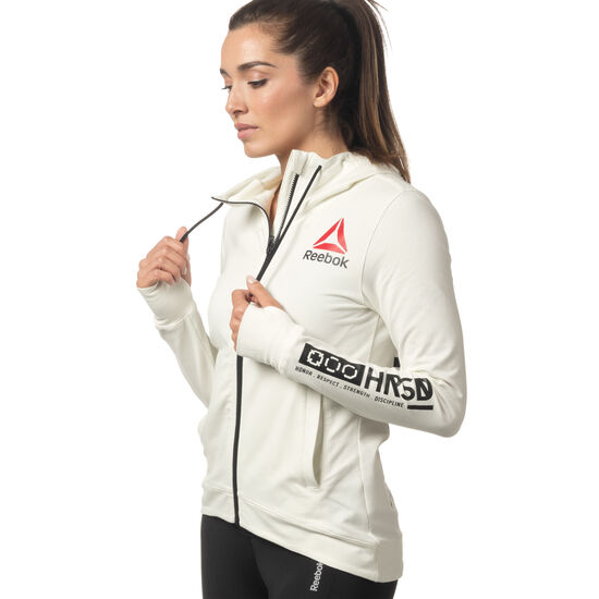 Reebok - UFC Fight Night Blank Walkout Hoodie Chalk/Black CE7495